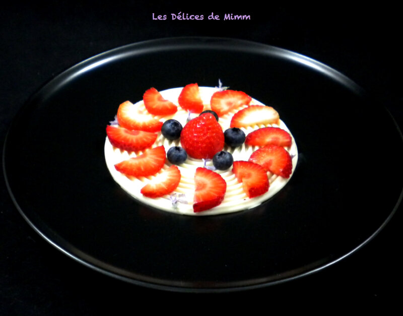 Tourbillon de panna cotta aux fraises