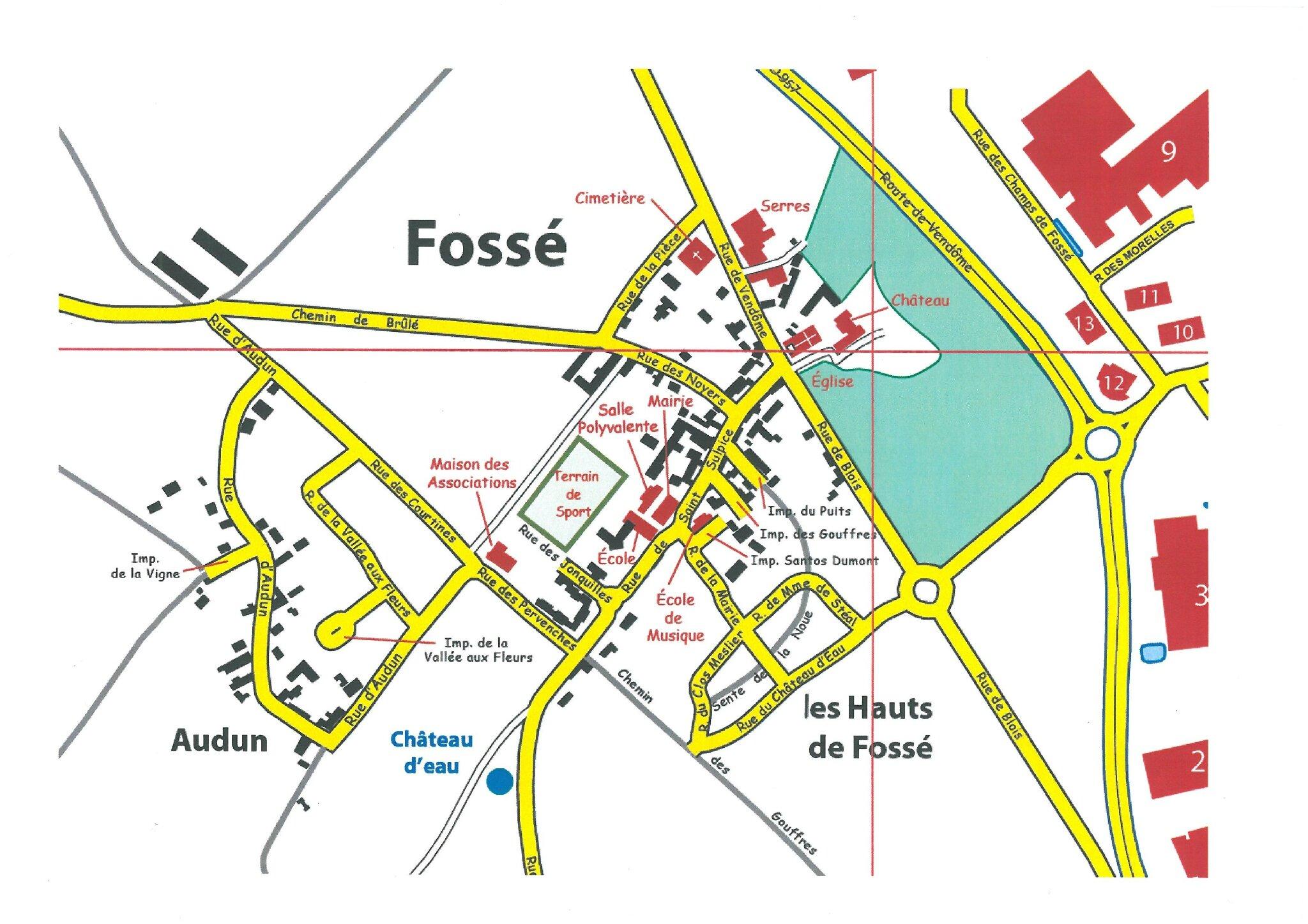 Le plan du Bourg de Fossé
