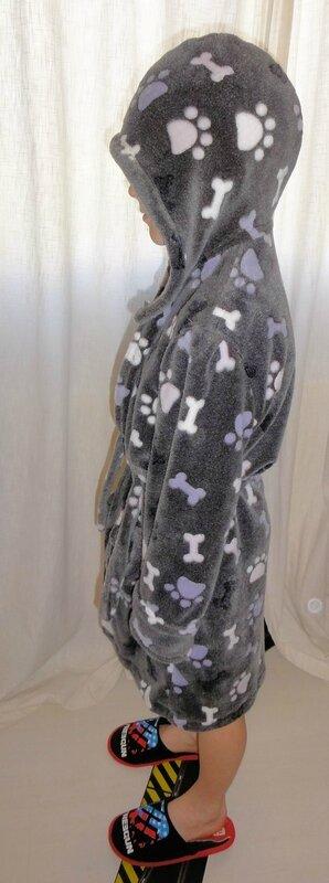 robe de chambre en capuche