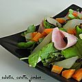 Salade de salsifis, carotte, jambon