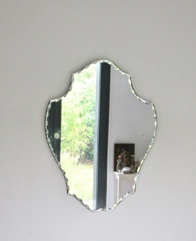 Miroir biseauté ancien
