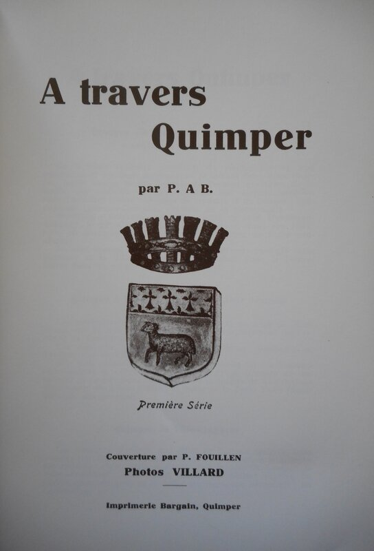 Livre à travers QUIMPER de PIERRE ALLIER 2