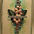 N° 15 carte papillon et fleurs