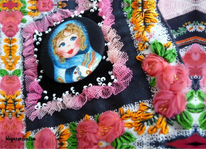 ribbon embroidery matriochka