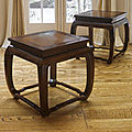 An outstanding and fine pair of zitan square stools with burlwood tops, 18th century
