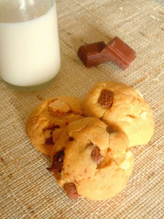 cookies trois chocolats beurre cacahuetes