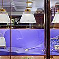 Réalisation des vitrines de la maison goyard paris haïku/ scénographie david puel / atelier2a model maker à paris.