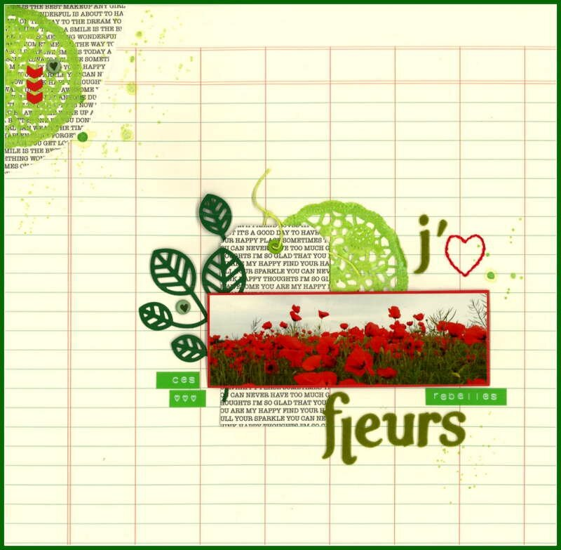 challenge clean simple coquelicots scrap