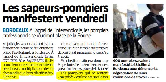 2019 08 28 SO Les sapeurs-pompiers manifestent vendredi