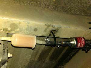 pose du filtre à gaz oil de marc