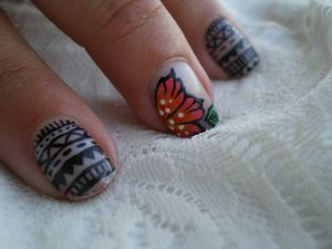 nail art tribal one stroke 7