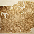 Textile fragment with boys in floral scrolls, northern song dynasty (960–1127), 11th–12th century