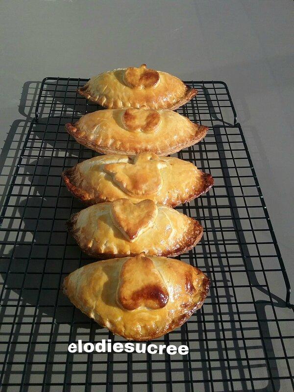 Chaussons aux pommes caramélisées à la cannelle 069
