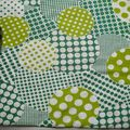 réf : Tissus W7 - Yuwa Patchwork Circles Green