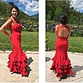 Robe de flamenco rouge