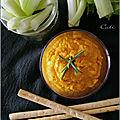 Dip de carottes au miel, a l'orange & au romarin