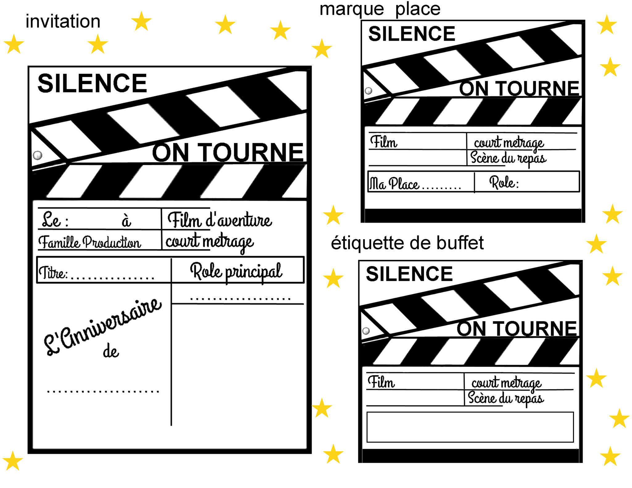 Decoration Theme Cinema A Faire Soi Meme.Theme Viens Faire Ton Cinema 1 Et 2 Et 3 Doudous