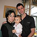 1 An de Loïs avec papa maman