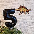 Un anniversaire dinosaure - 5 ans