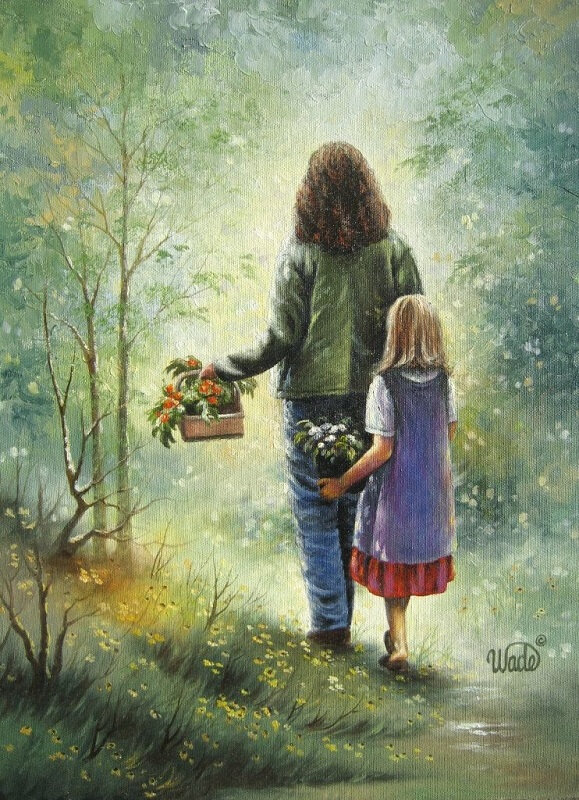 vickie wade - mother and daughter garden girls