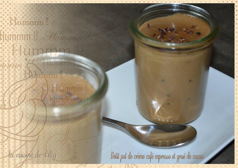 crème café grué cacao