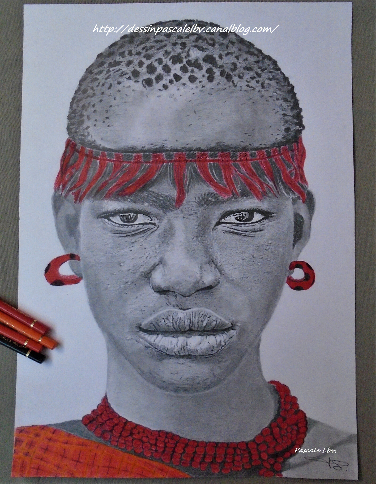 189 - Femme de la tribu Bodi 30X40 DISPONIBLE