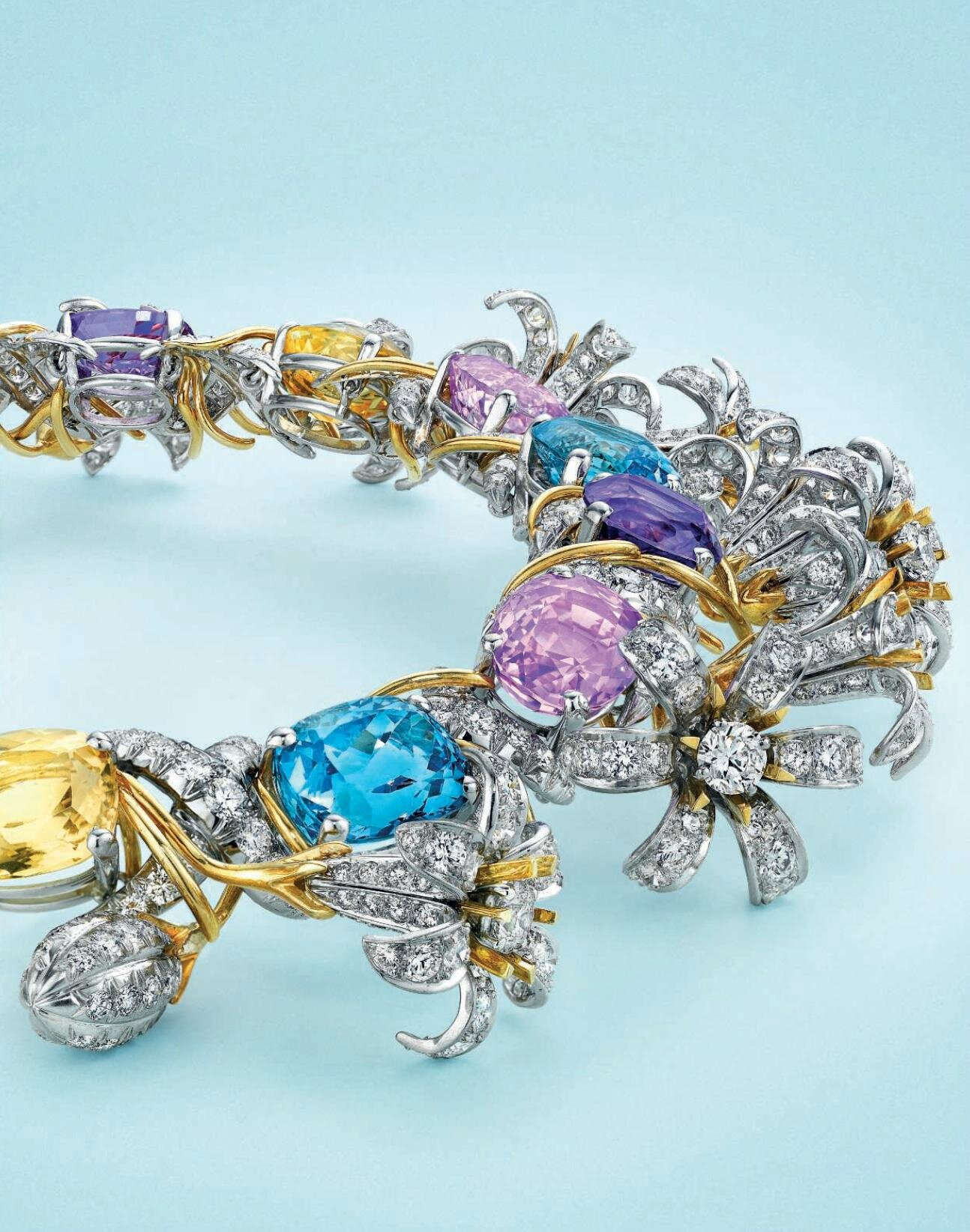e56ac007a A multi-gem, gold and platinum 'Jasmin' necklace, by Jean Schlumberger,  Tiffany & Co