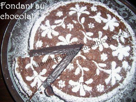 Fondant au chocolat blog