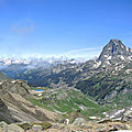 Lacs d'Ayous, panorama, pic du Midi d'Ossau et lac Gentau (64)