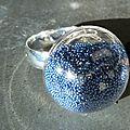 Bague dôme micro billes bleues (11)