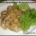 Gratin de pommes de terre au poulet (recette algérienne )