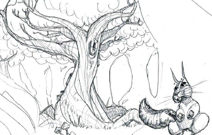 écureuil et foret