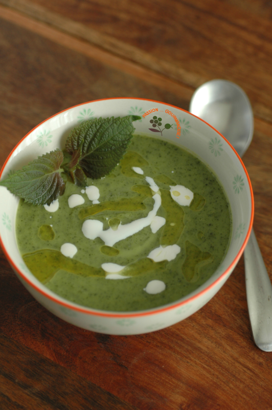 Velouté courgettes-shiso