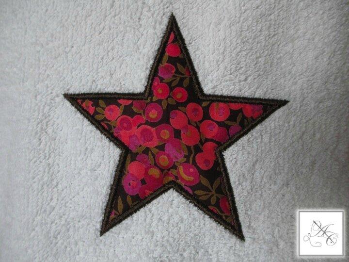 Appliqué étoile, Liberty