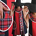 MOD 364 Robe Tartan Rouge Tartan dress