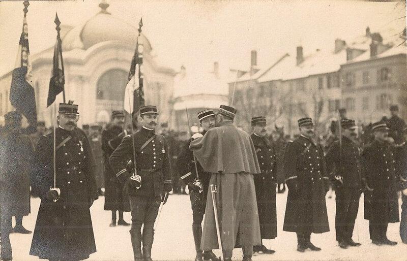 1914 01 21 Belfort CPA Lt Gourlez Croix de guerre CPhoto