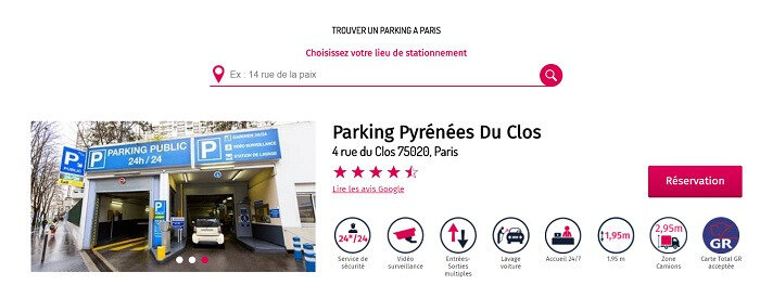 parking paris 19