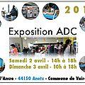 Exposition 2016 : samedi 2 et dimanche 3 avril