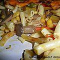 Gratin aux restes de poulet et légumes