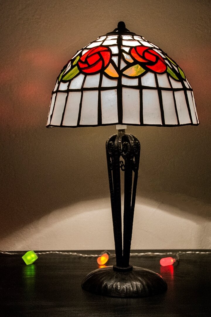 lampe roses anciennes