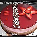 Bavarois fraise chocolat