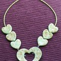 collier coeur anis