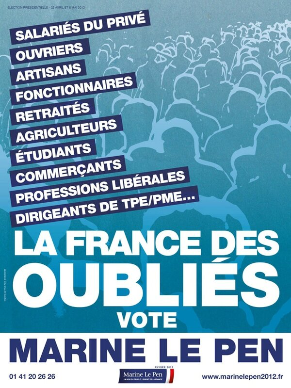 Affiche FN 2012 oublies