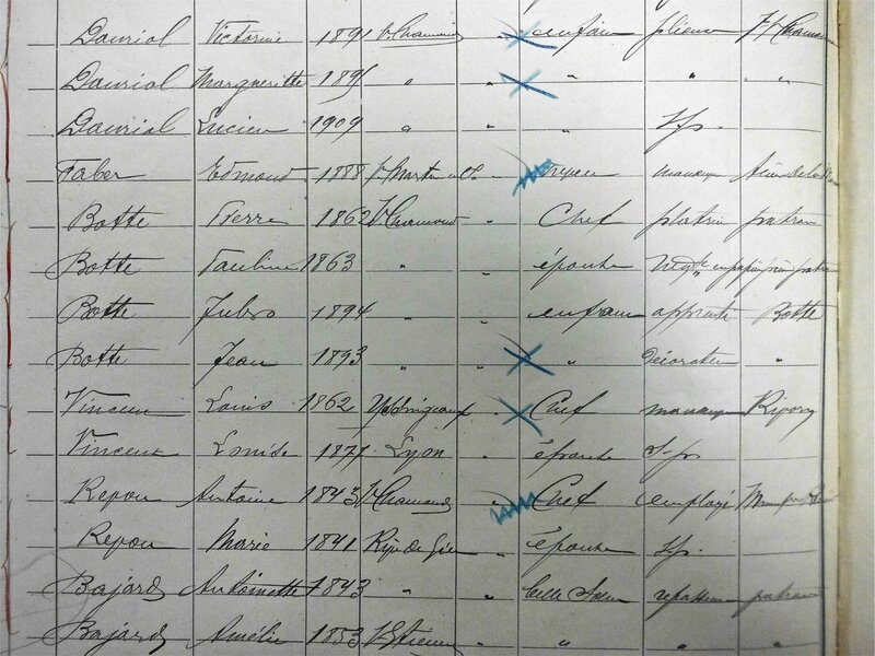Botte recensement 1911