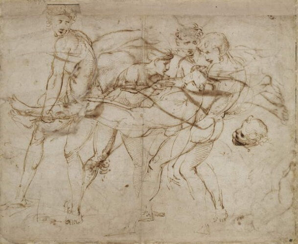 _Raphael - The Death of Adonis (pen and brown ink on off-white paper) - (MeisterDrucke-321475)