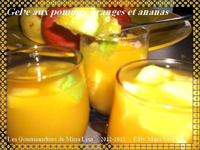 gelée aux pommes,oranges et ananas1