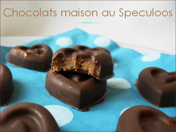 Chocolats maison aux speculoos 1