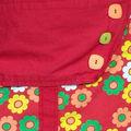 jupe fleurie rouge (détail)