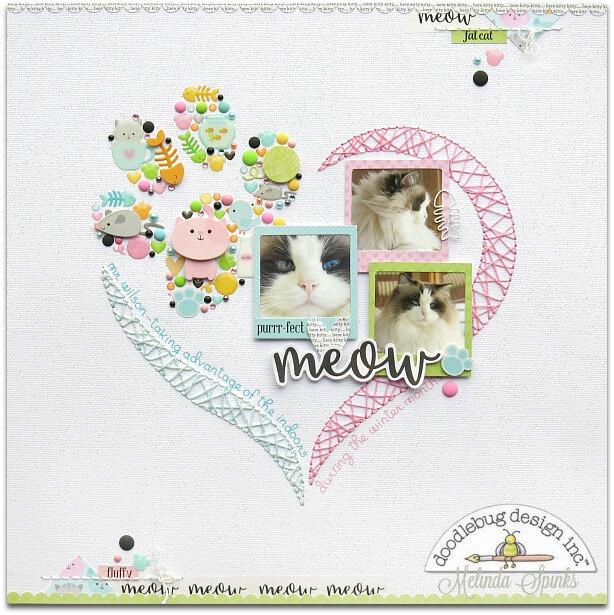 DB - Melinda Spinks - Kitten Smitten - Meow Layout