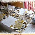 Une jolie table pour l'épiphanie et la galette!